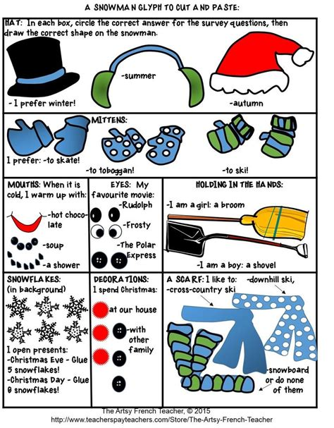 free christmas glyphs for fourth grade 7 and winter glyphs variety packet school education learn learning