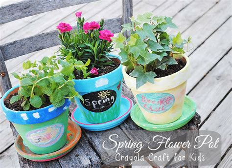 flower pot craft for flower pot crayola craft for