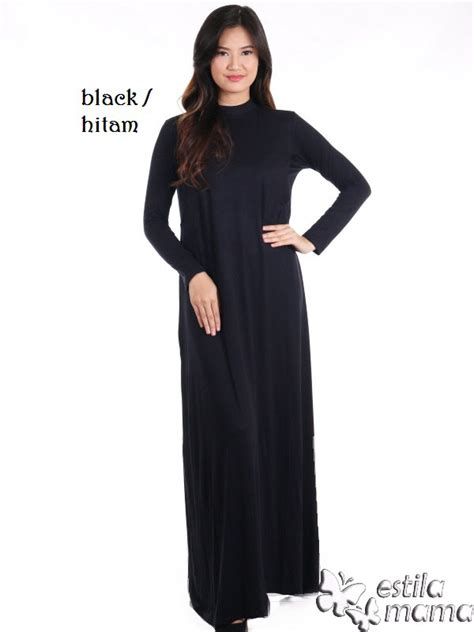 rayna manset gamis inner menyusui kaos spandex hitam estila