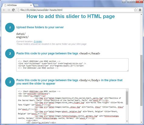best html codes for website how to create an image slider and add it into your html file