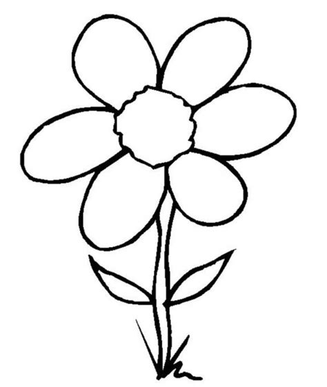 cartoon flower coloring page flower cartoon pictures coloring home