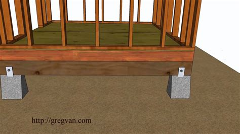 how to build floor five ways how to build a shed floor design and