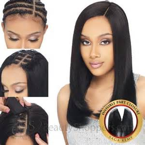invisible part for thin hair shake n go milky way saga 100 remy human hair piece