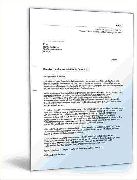 Anschreiben Initiativbewerbung Zahntechniker Bewerbung Muster Arbeitsplatz Reimbursement Format