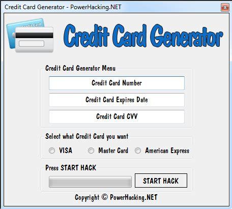 Credit Card Security Code Generator Template by Http Powerhacking Net Credit Card Generator Credit Card