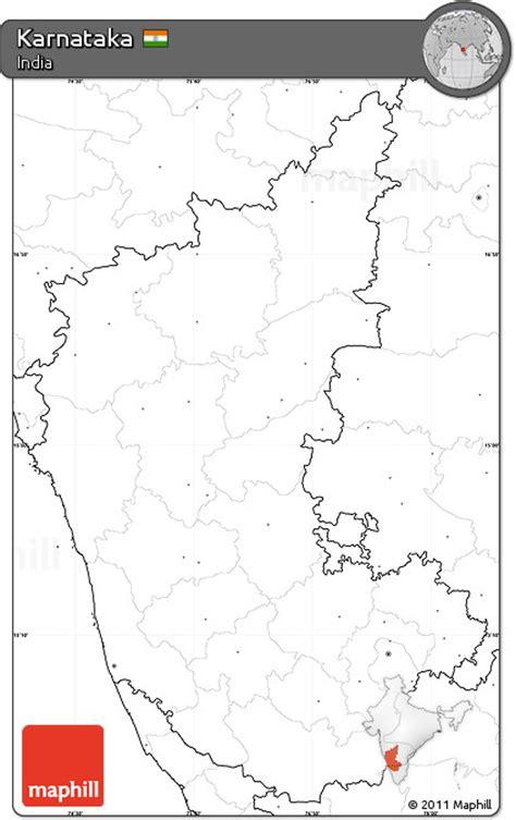 Karnataka Outline Map by Image Gallery Karnataka Map Outline