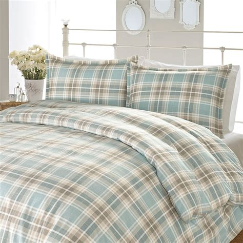 flannel plaid comforter laura ashley cranbourne plaid flannel duvet set from