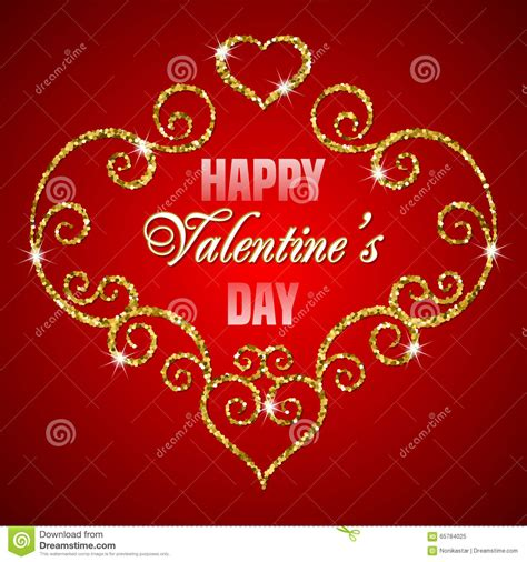 valentines day glitter images valentines day glitter card stock vector image 65784025