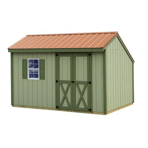 12 X 12 Shed Home Depot by Best Barns Aspen 8 Ft X 12 Ft Wood Storage Shed Kit With