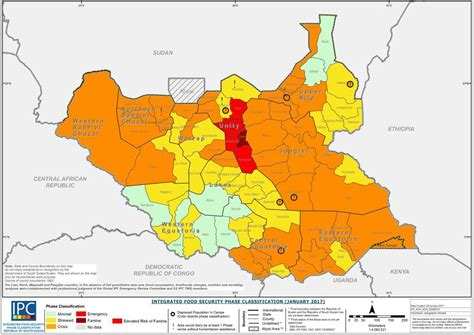 south sudan map 2017 south sudan famine