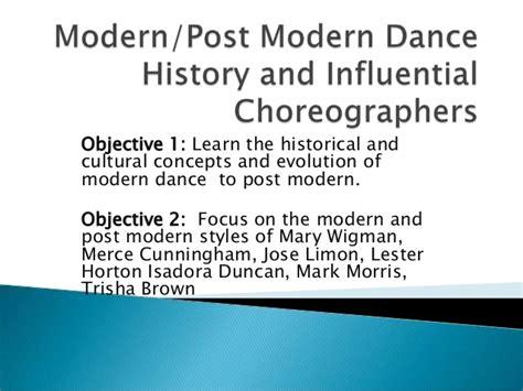 a history of modern modern dance history