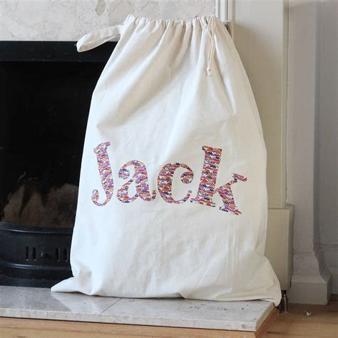 extra large personalised christmas sack by what katie did