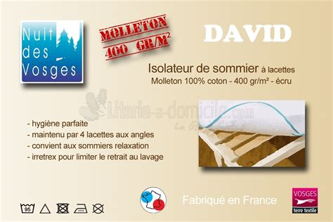 isolateur de sommier david literie 224 domicile
