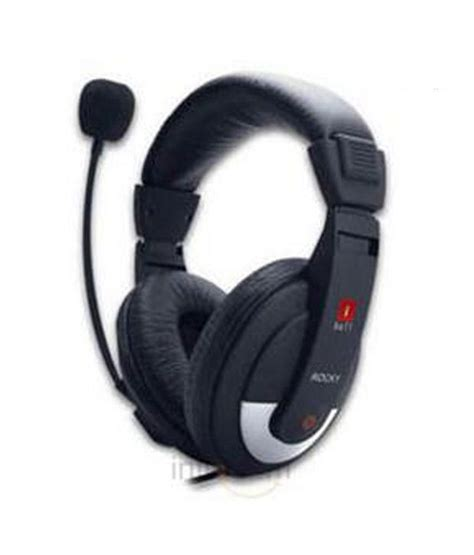 Headphone With Mic buy iball rocky ear headset with mic black at best price in india snapdeal