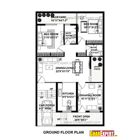home design in 50 yard house plan for 30 feet by 50 feet plot plot size 167 square yards gharexpert com