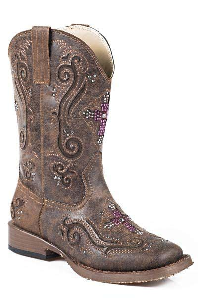 roper faith square toe western boot equestriancollections