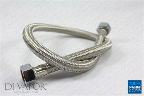 Bath Shower Thermostatic Mixer 60cm stainless steel braided flexible flexi hose 1 2 quot x