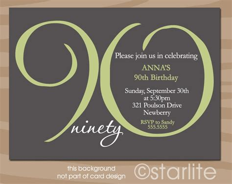 90th birthday invitations templates 90th birthday invitation milestone 90th birthday by
