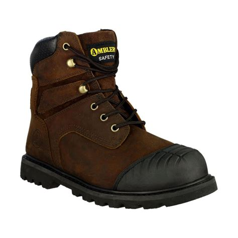 Sepatu Pichboy Boots 10 Brown Safety 4 amblers fs10 safety boot steel toe cap midsole work shoes lace up sb sra