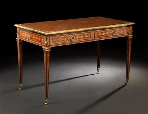 superb inlaid writing desk for sale antiques