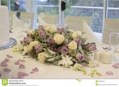 Bridal Floral Arrangements by Floral Arrangement On Bridal Table Stock Photo Image