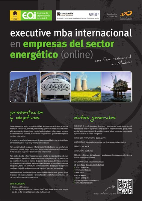 Mba Sector by Executive Mba Internacional En Empresas Sector