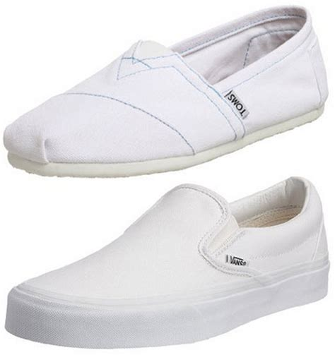mens white canvas slip on shoes choozone