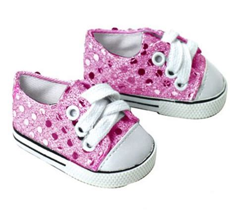 doll clothes fit 18 quot american sneakers pink sequins
