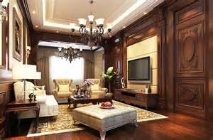 Wood Walls In Living Room european style living room wood walls and floors
