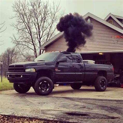 cummins truck rollin coal black dodge cummins roll coal diesel trucks