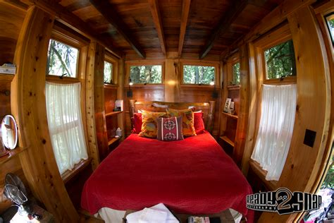 house inside the tranquilizing treehouse point washington united