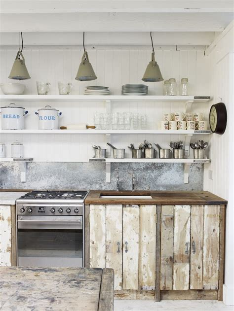 rustic beachy industrial kitchen dining the white
