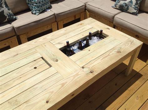 table  built  beer cooler diy crafts