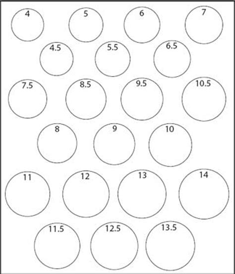 printable womens ring sizer uk womens ring size chart wedding rings ideas