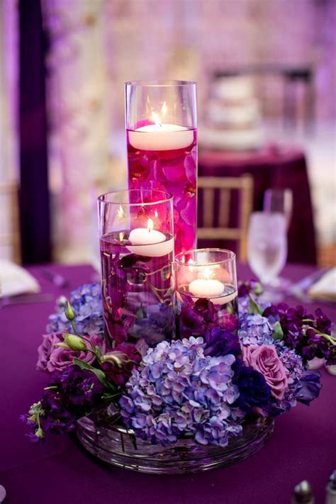 purple floating candles for centerpieces best 25 purple wedding centerpieces ideas on
