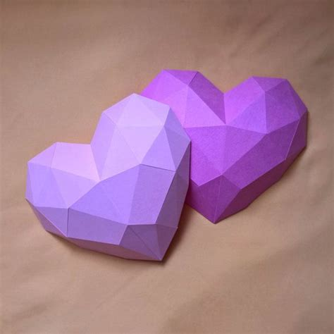 paper craft hearts papercraft printable diy template me gust 243 para