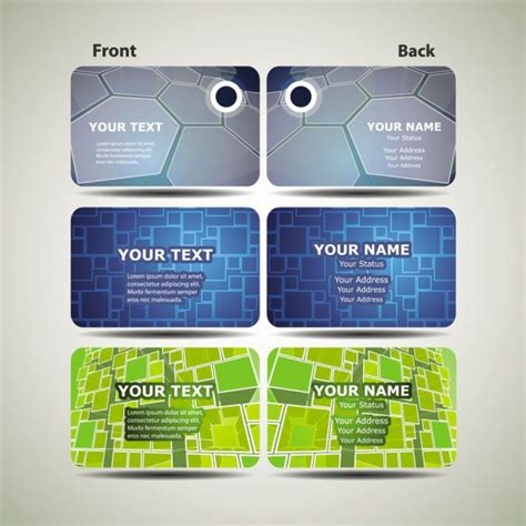 technology business card templates dynamic technology business card template 02 vector free