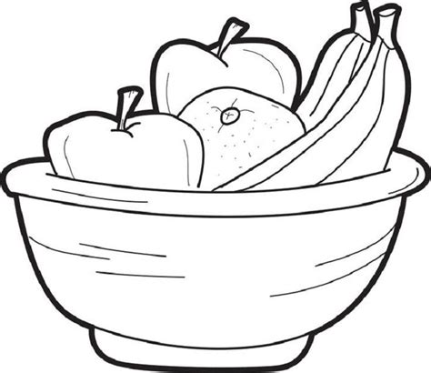 fruit bowl coloring page 73 best food images on pinterest coloring books