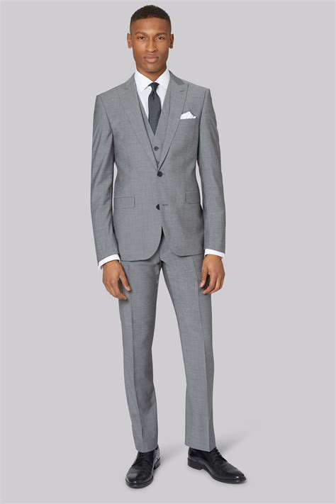 light gray fitted suits dkny slim fit light grey jacket