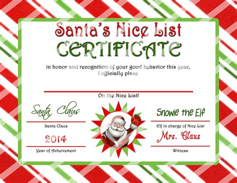 printable gift certificate from santa printables bottlecap buzz