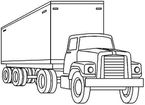 moving truck coloring page truck clip art black and white free clipart images