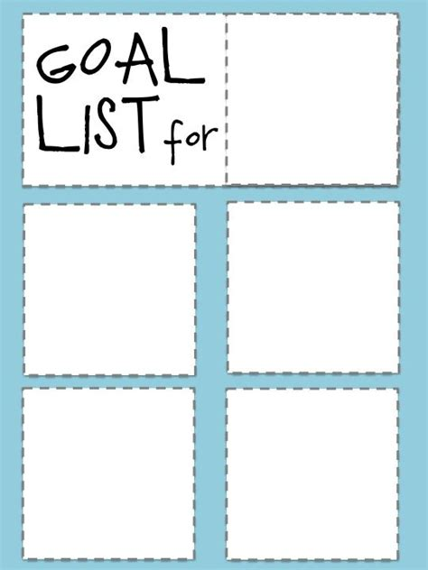 goal list template goal list printable goodies more