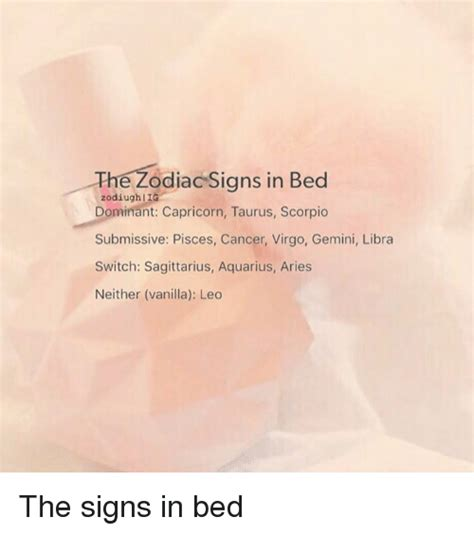dominant in bed the zodiac signs in bed zodiugh g dominant capricorn