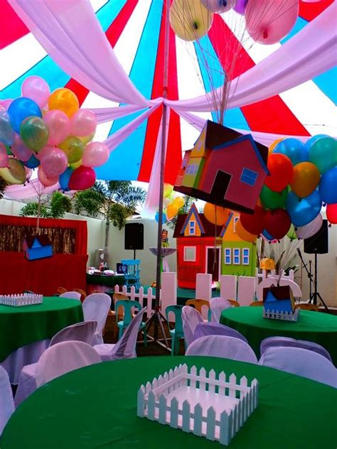 themes of house party floating house of disney up party theme party