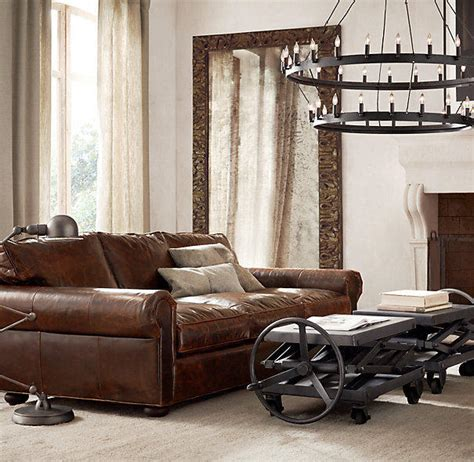 restoration hardware lancaster sofa lancaster leather sofas from restoration hardware home