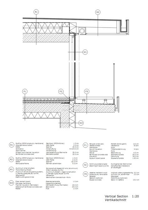 flat roof section drawing gallery of l house architects collective 23