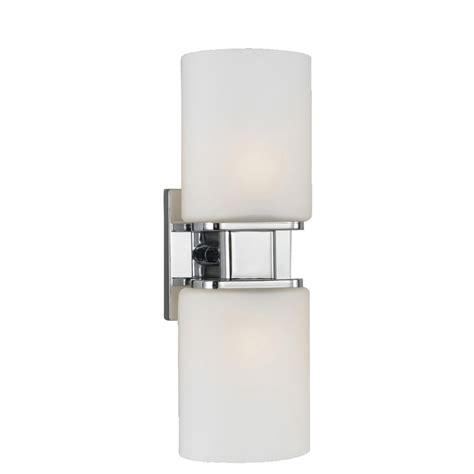 home depot wall lights eurofase dolante collection 2 light chrome wall sconce