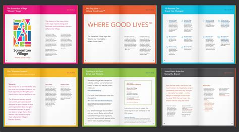 Hand Book Layout Design | colored sections employee handbook design pinterest
