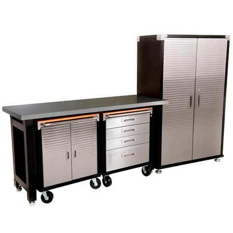 garage benches and storage maxim hd 4 piece supersize garage storage system stainless