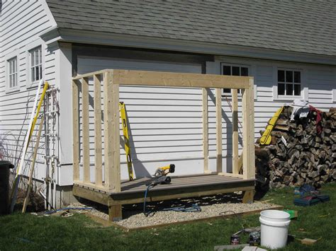 Shed Footings Depth by Building A Firewood Shed A Concord Carpenter